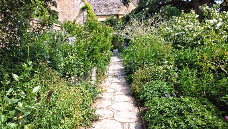 Gardens. The world famous Hidcote manor gardens in the English cotswolds cotswold Midlands uk gb design landscaped national trust tourism famous place placed stock photo