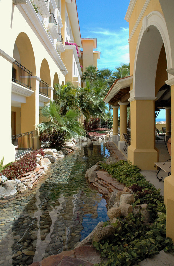 Download Gardenview At A Resort In Cabo San Lucas, Mexico Stock Photo - Image: 195730