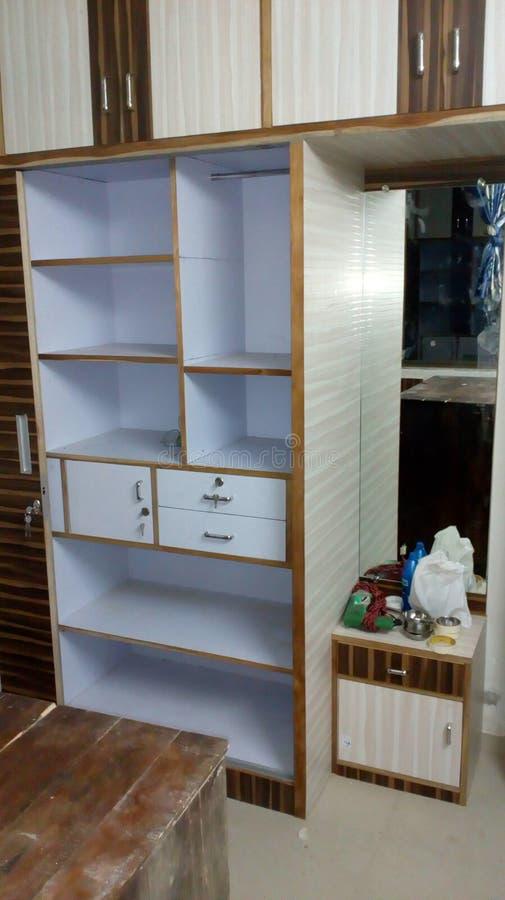 Garderoba wśrodku układów fotografia royalty free