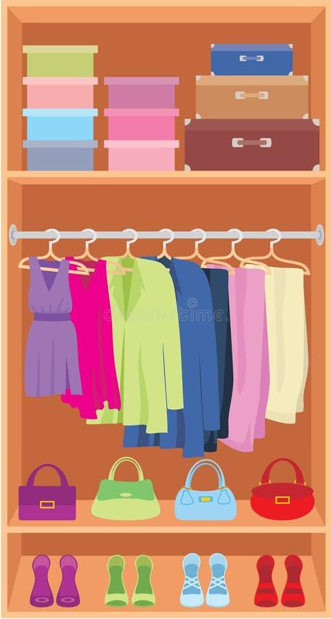 Garderobe lizenzfreie abbildung