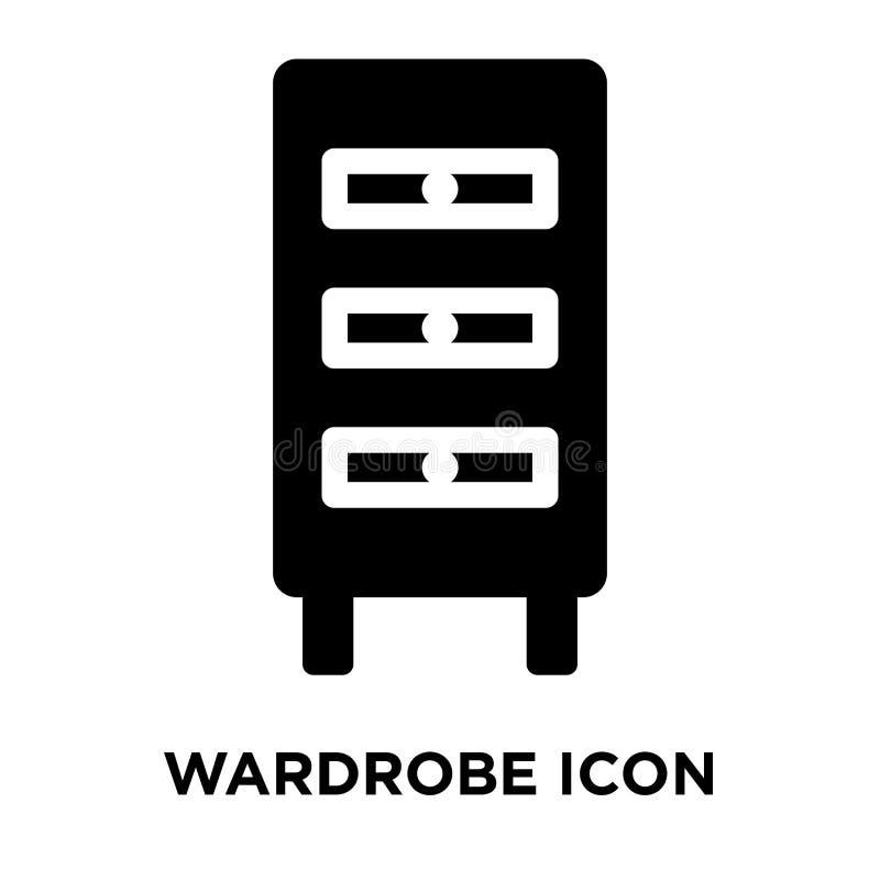 Garderobenikonenvektor lokalisiert auf weißem Hintergrund, Logokonzept stock abbildung