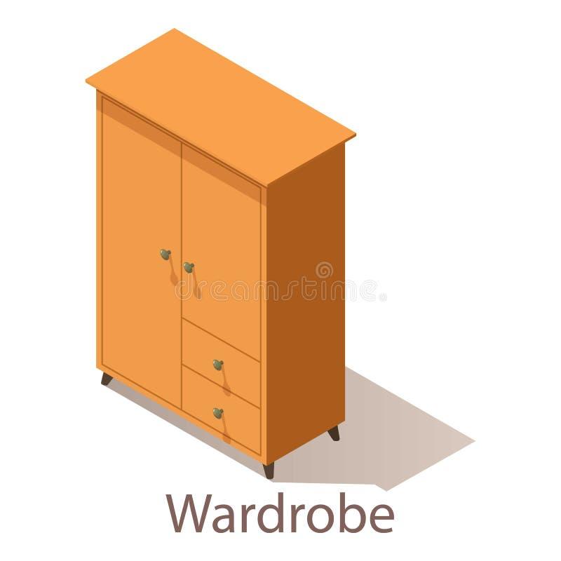 Download Garderobepictogram, Isometrische Stijl Vector Illustratie - Illustratie bestaande uit meubilair, bureau: 107708827