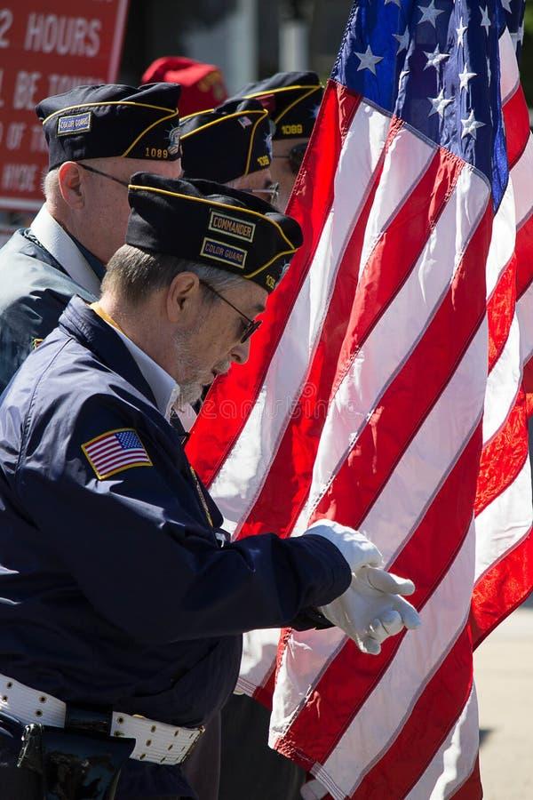 Gardes du drapeau photographie stock libre de droits