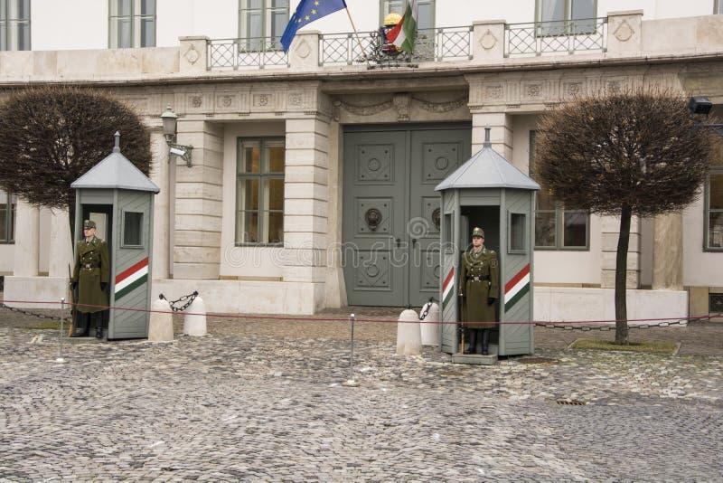 Gardes Sandor Palace Budapest extérieur image libre de droits