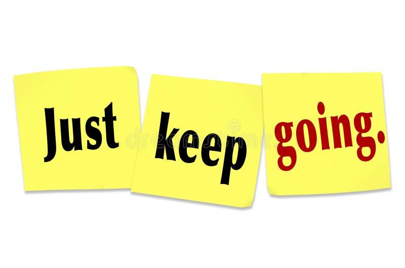 Gardez juste l'attitude de gain allante de persistance de détermination illustration libre de droits