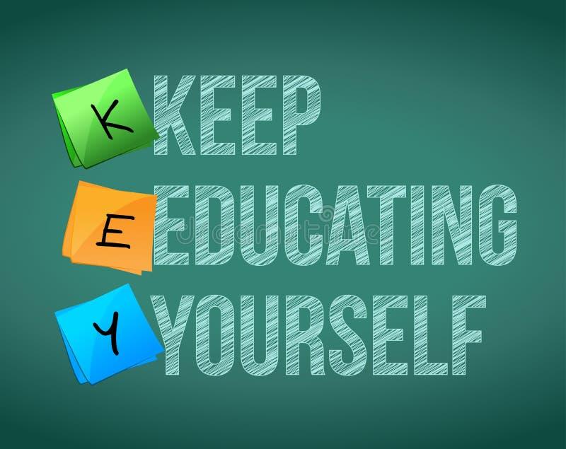 Gardez la conception d'illustration de l'éducation vous-même illustration libre de droits