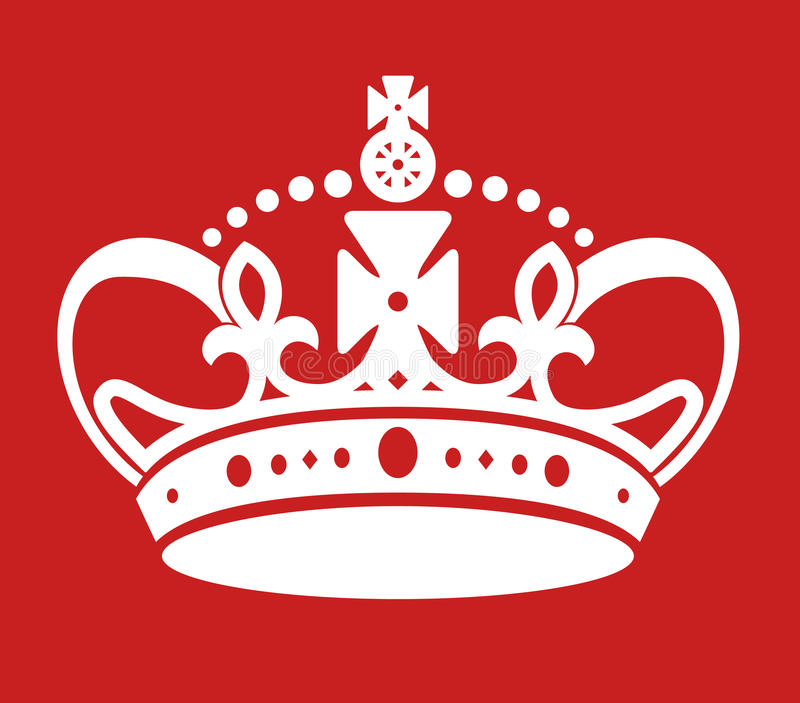 Gardez la couronne semblable d'affiche calme images libres de droits