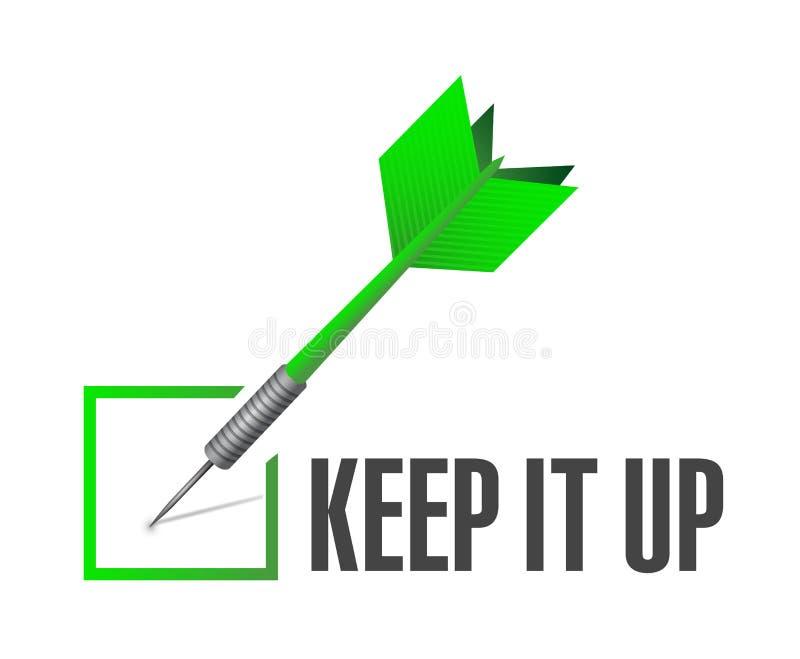 Gardez-le pour vérifier l'illustration de concept de signe de dard illustration de vecteur