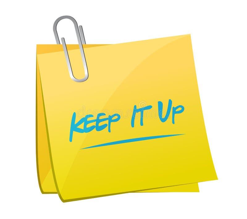 Gardez-le vers le haut de l'illustration de concept de signe de courrier de note illustration libre de droits