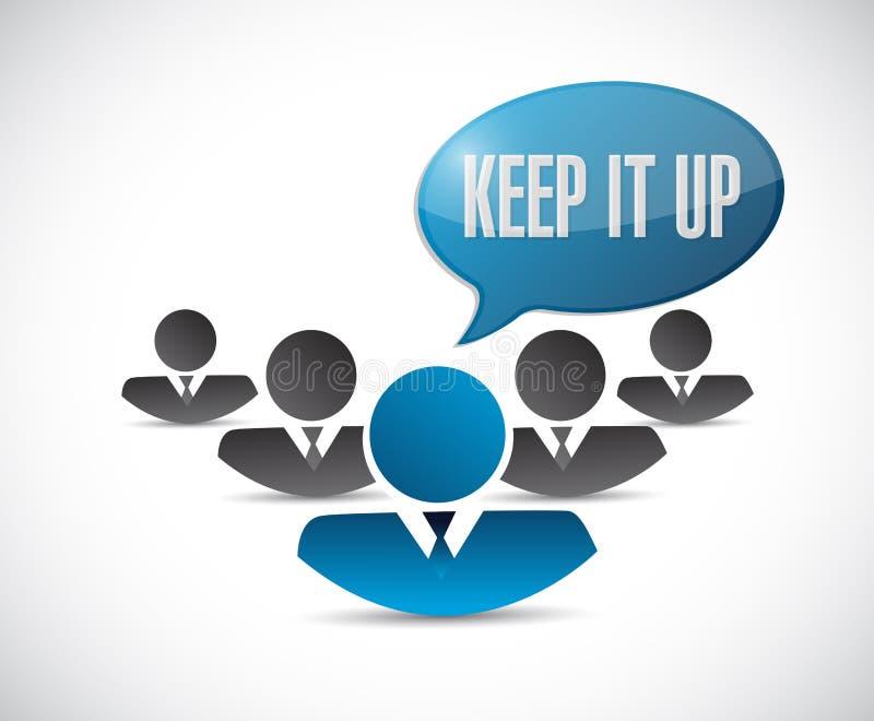 Gardez-le vers le haut de l'illustration de concept de signe de travail d'équipe illustration de vecteur