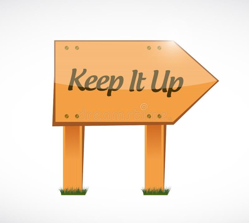 Gardez-le vers le haut de la conception en bois d'illustration de concept de signe illustration de vecteur