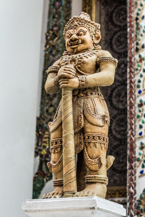 Gardien de démon en Wat Phra Kaew (Wat Phra Sri Rattana Satsadaram) à Bangkok, Thaïlande photo libre de droits