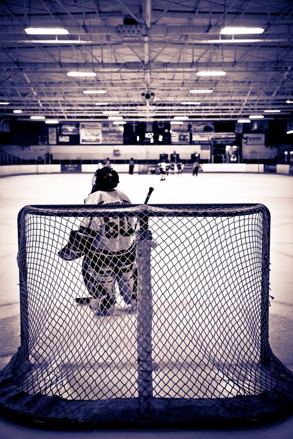 Gardien de but de hockey sur glace photo libre de droits