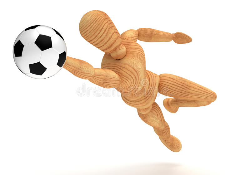 Gardien de but du football illustration stock