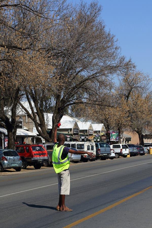 Gardien de parking indépendant photo libre de droits