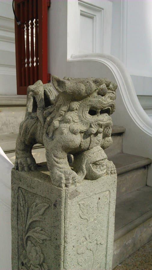 Gardien en pierre de lion photo stock