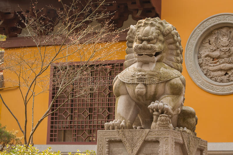 Gardien Lion Statue image stock