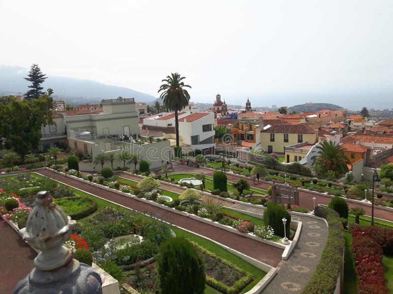 Gardin botánico Orotava Tenerife fotos de archivo