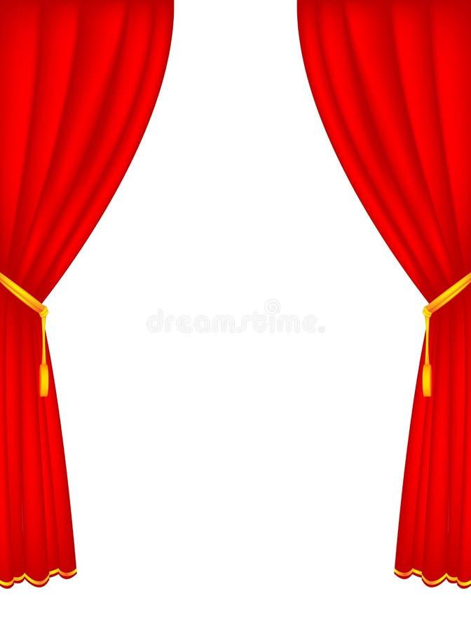 gardinetapp vektor illustrationer