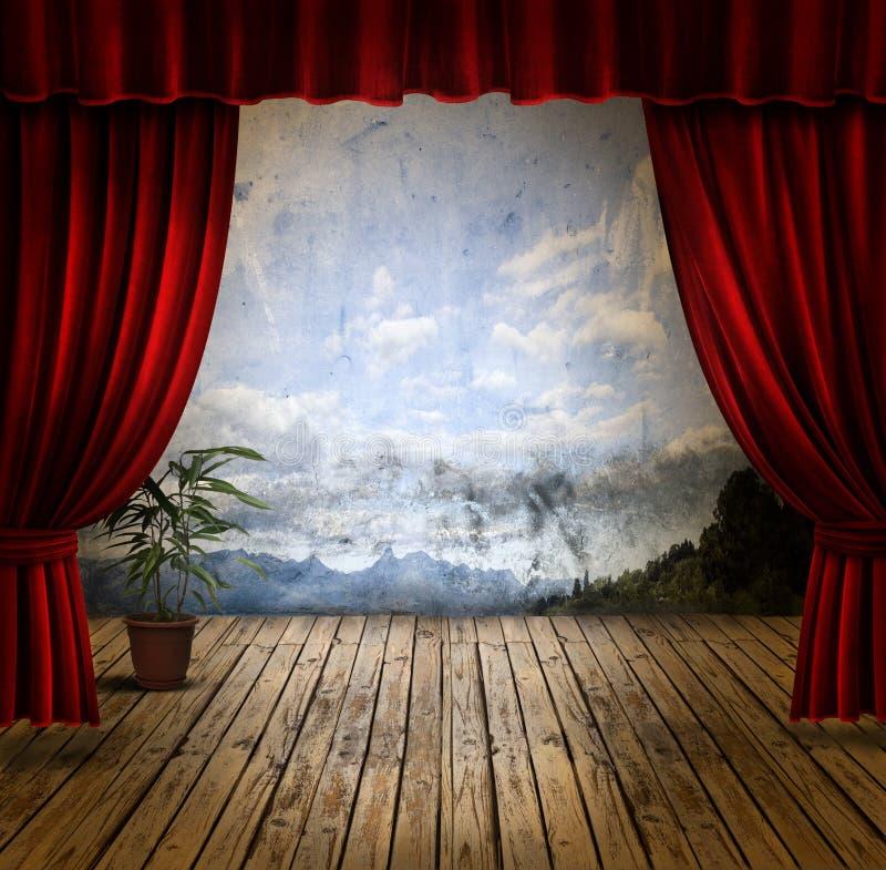 gardinetappsammet arkivbilder
