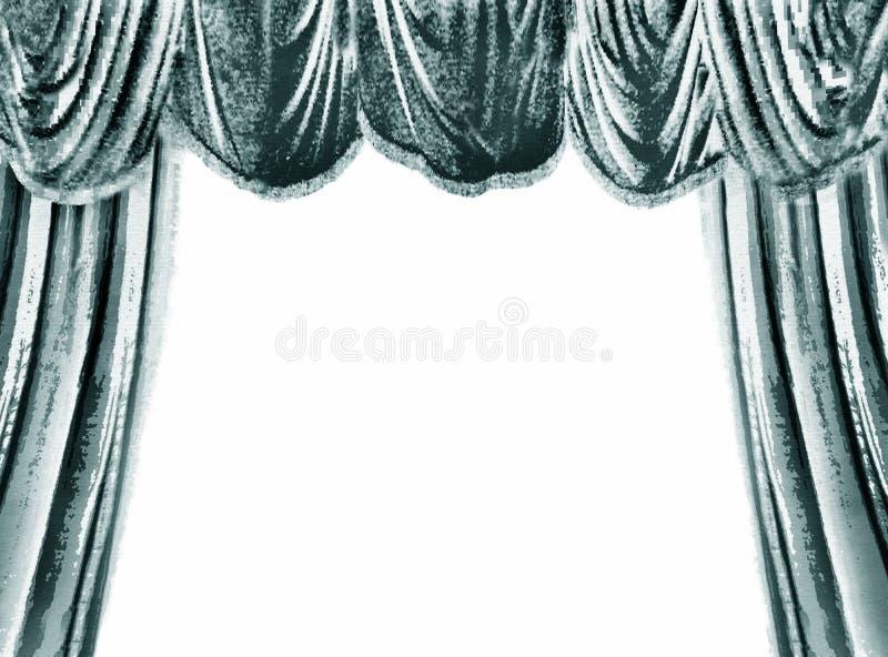 gardinteater royaltyfri illustrationer
