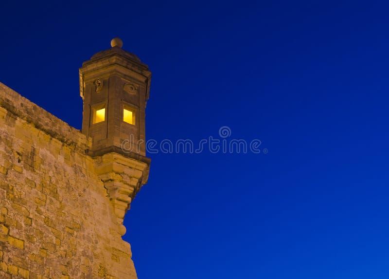 Gardjola in the Evening - Malta royalty free stock images