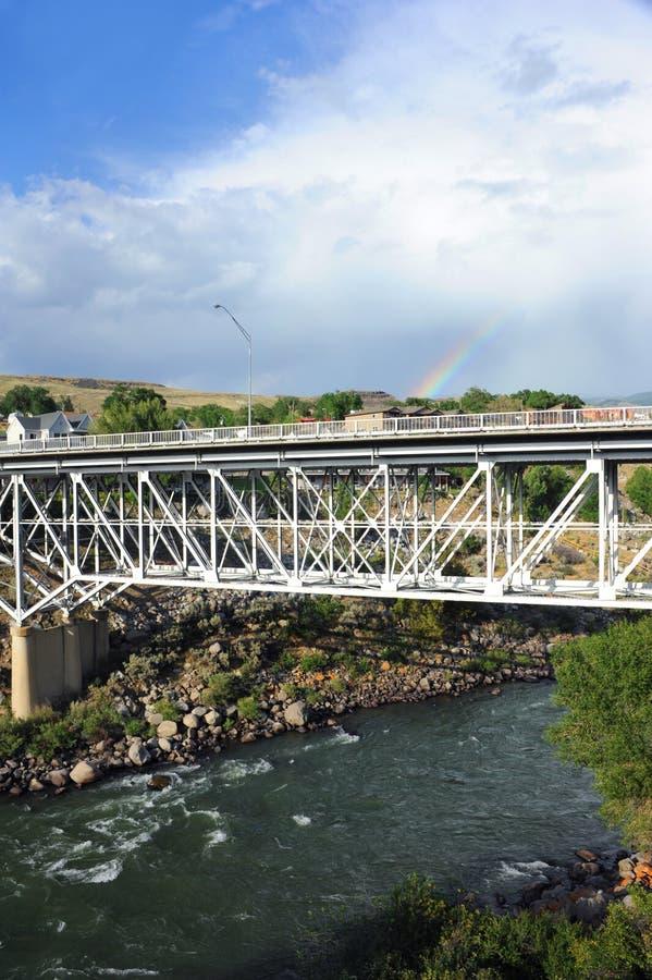 Gardner Монтана и мост стоковая фотография rf