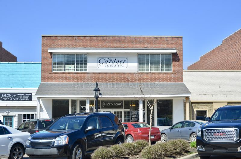 Gardner Building, Brownsville, Tennessee fotografía de archivo