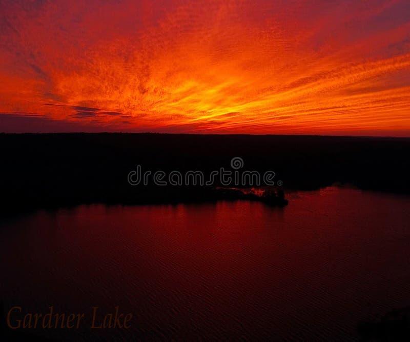 Gardner Lake, CT imagem de stock