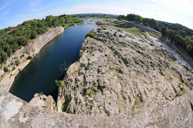 Gardon River In France Stock Photo