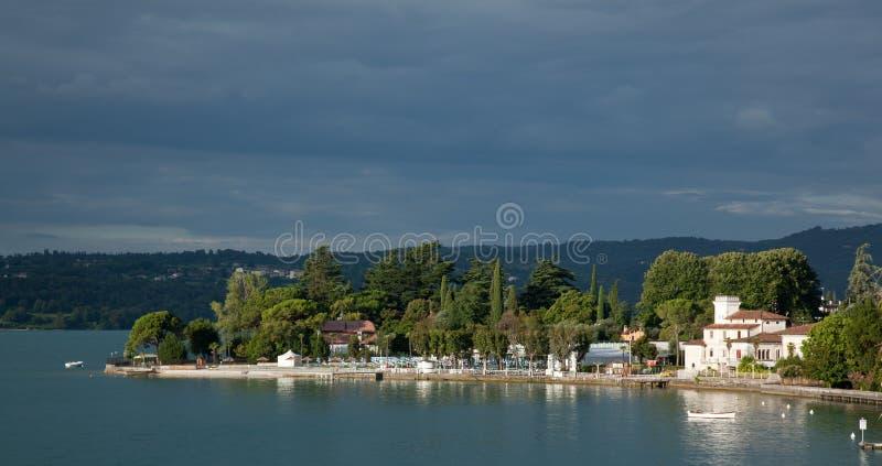 Gardone on Lake Garda stock photography