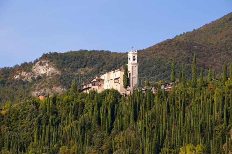 Gardone Riviera na Jeziornym Gardzie Włochy zdjęcie stock