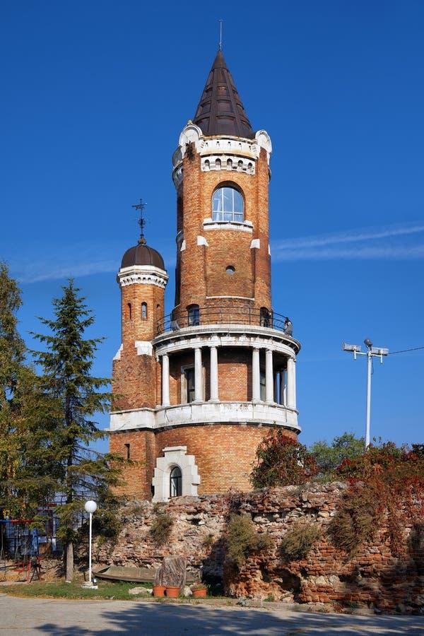 Gardos torn i Zemun, Belgrade, Serbia royaltyfri bild
