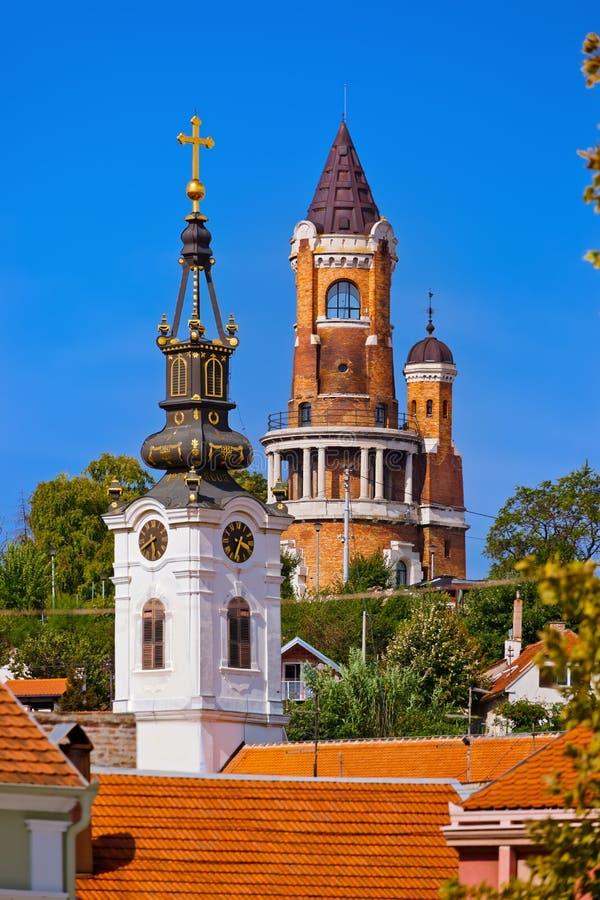 Gardos Tower in Zemun - Belgrade Serbia. Architecture travel background stock photography