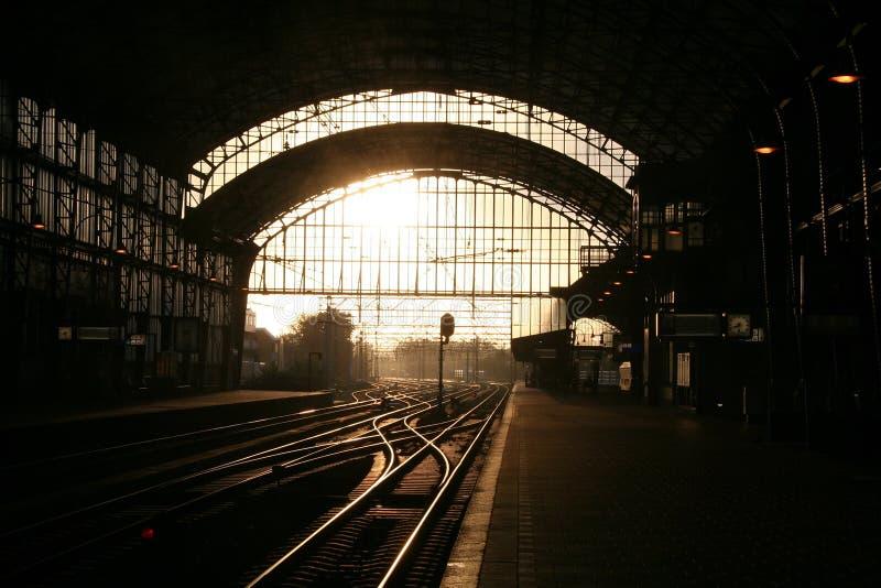 Gare à Haarlem photographie stock libre de droits