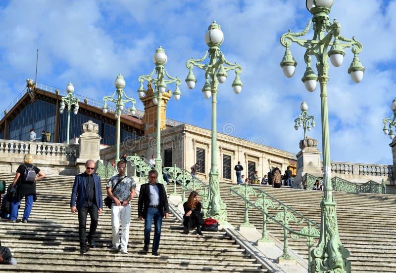 Gare Charles w Marseille, Francja zdjęcie stock