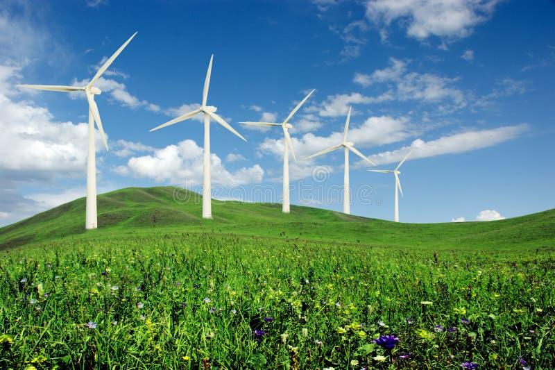 Gare d'énergie éolienne images libres de droits