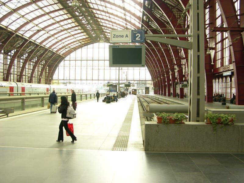 Gare d'Anvers photo libre de droits