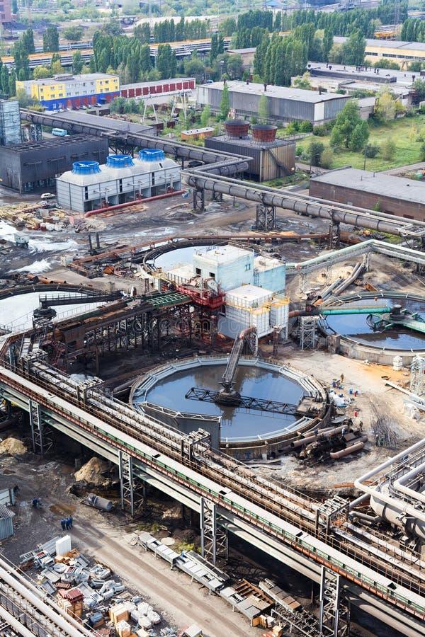 Gare d'eaux d'égout d'eau en construction photos stock