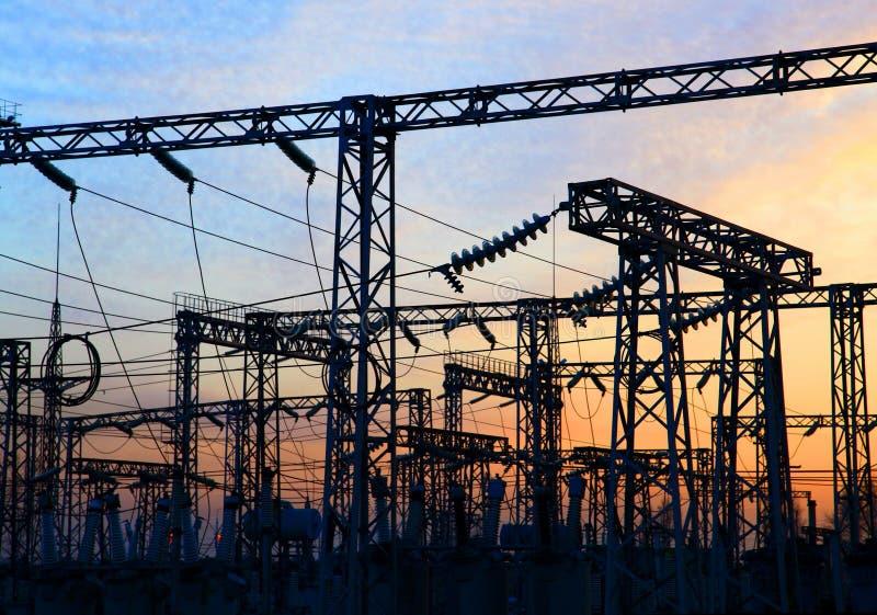 Gare de courant électrique photos libres de droits
