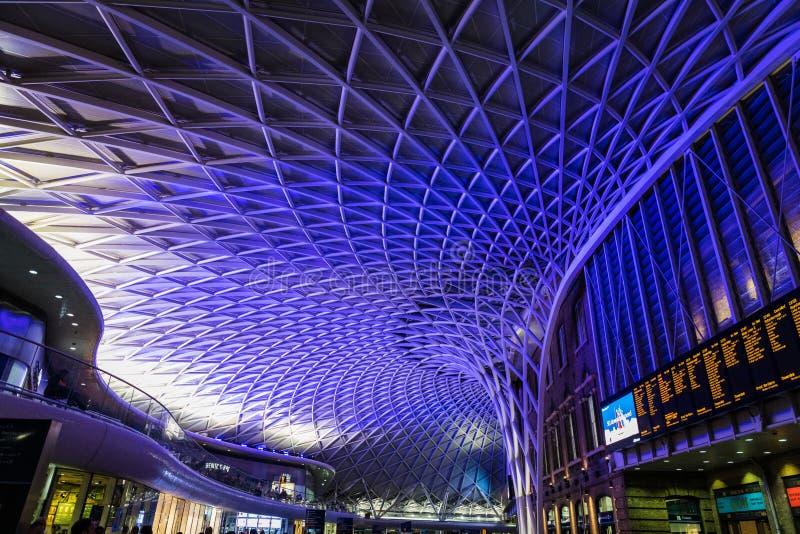 Gare de King's Cross à Londres photos libres de droits