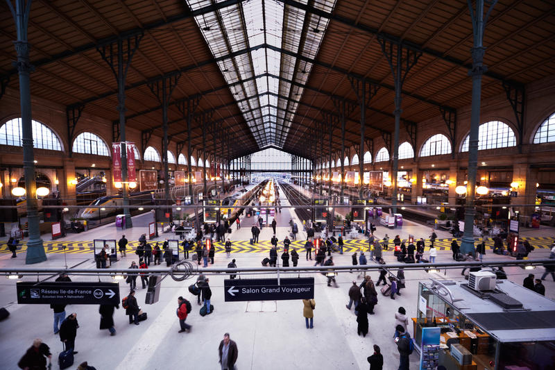 Gare de lâEst - gare orientale image libre de droits