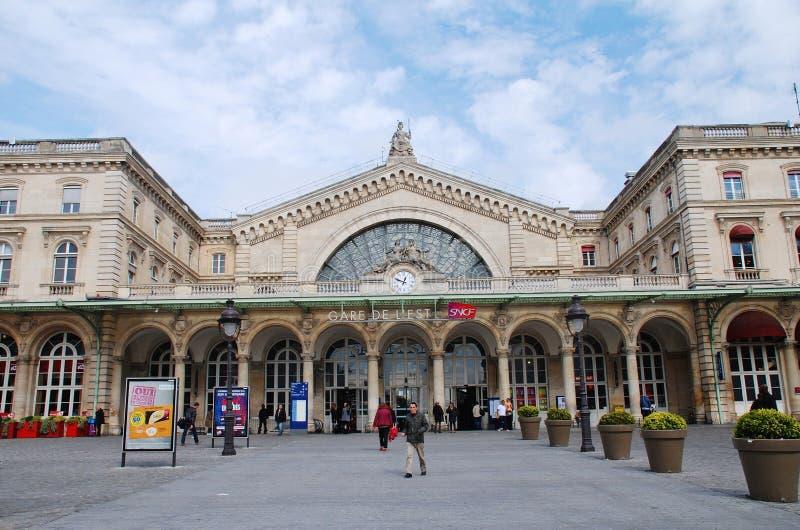 Gare De l'Est, Paryż obraz stock