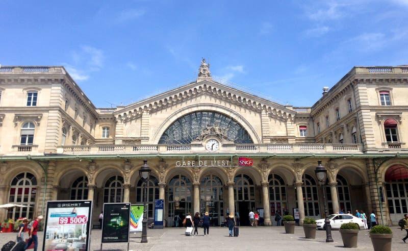 Gare de l'est - Paryż obrazy royalty free