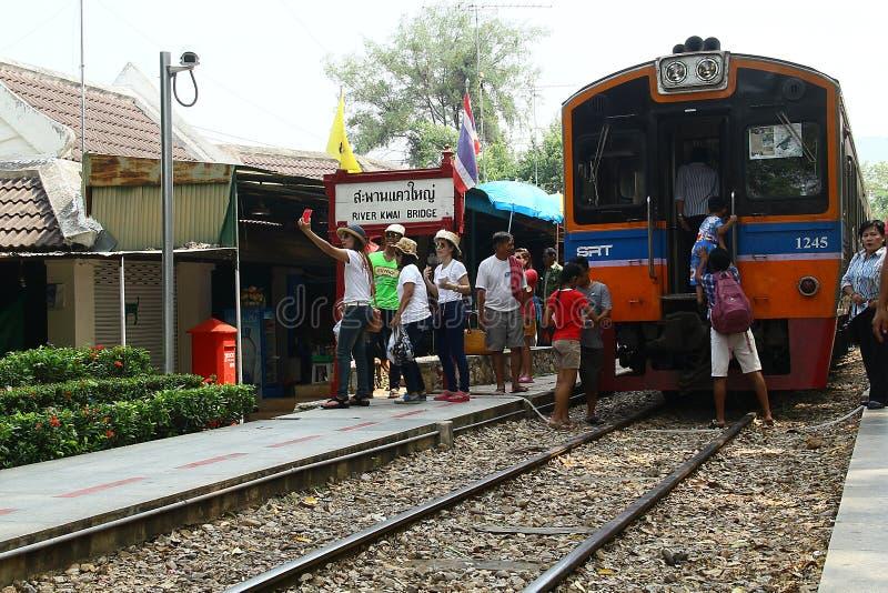 Gare de la passerelle sur le fleuve Kwai photo libre de droits
