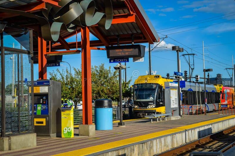Gare de longeron légère de Minneapolis Hiawatha photo stock