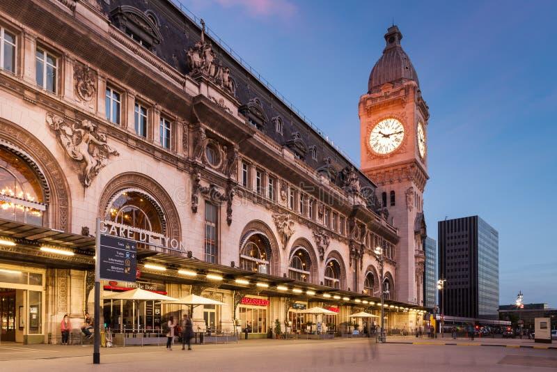 Gare de Lyon Paris arkivfoton