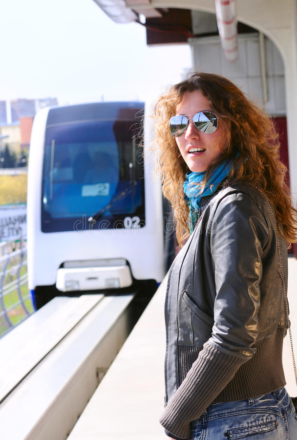 Gare de monorail photos stock
