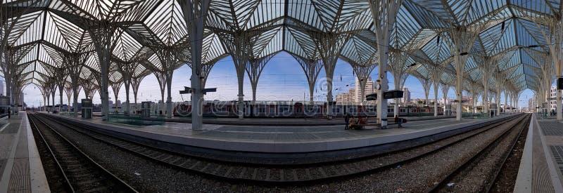 Gare De Oriente dworzec, Lisbon, Portugalia zdjęcie royalty free