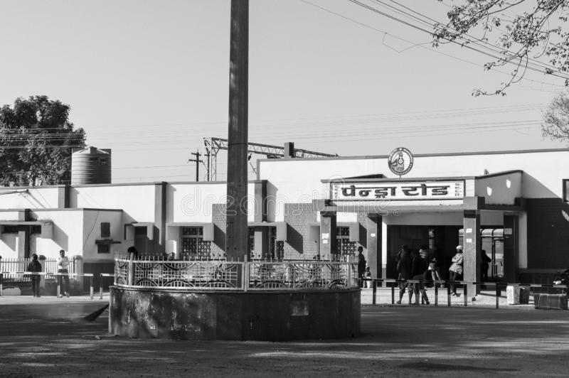 Gare de Pendra Road, État indien de Chhattisgarh, Bilaspur, Inde Mai 2018 - Pendra Road est une gare de Bilaspur photo stock